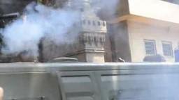 الشرطة تعتدي علي مشايخ الأزهر امام وزارتهم