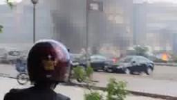 اطلاق الرصاص والقنابل على المعتصمين برابعة