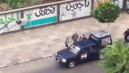 لحظة اعتقال أمين الحرية و العدالة ببورسعيد