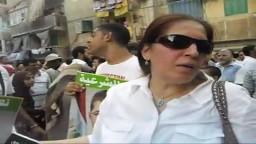 احدى المشاركات فى مسيرات رفض الانقلاب