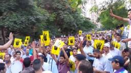 مسيرة حاشدة في المهندسين ضد الانقلاب