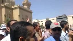 مظاهرة بالزقازيق لرفض الانقلاب