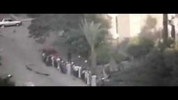 قنص احد المعتقلين بعد تسليم نفسه في فض رابعة