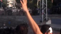 لحظة وصول مسيرة رفض الانقلاب الى الاتحادية
