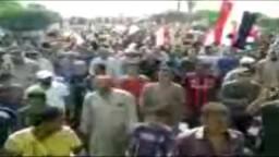 مظاهرات رافضة للانقلاب العسكري بالعبور 6/ 9