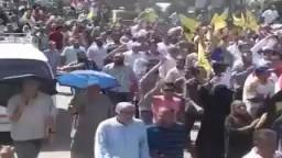 مسيرة الهرم قبل وصولها لمسيرة مسجدالرحمة