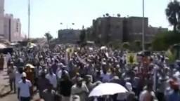 أمواج بشرية ببورسعيد تهتف ضد غلاء الأسعار