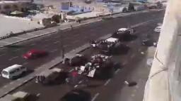 هجوم الشرطه على مظاهرة ضد الانقلاب