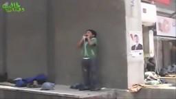 أغرب موقف من طفل فى رابعة أثناء فض الأعتصام