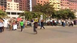 طلاب ضد الانقلاب يغلقون ميدان الف مسكن  22-9