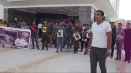 مظاهرات جامعة دمنهور ضد الانقلاب 30-9-2013