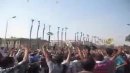 رد طلبة جامعة القاهرة عند تحليق الطائرات