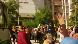 اتوبيس ضد الإنقلاب مسيرة جامعة اسيوط 5-10