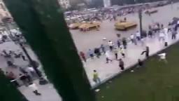 صمود المتظاهرين أمام رصاص الجيش 6 اكتوبر