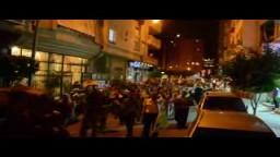 مسيرة مفاجئة بمنطقة سموحة رفضا للانقلاب