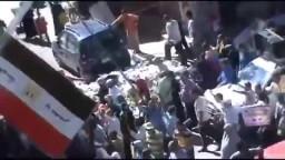 لحظة دهس مدرعة جيش لمؤيدى مرسى 11-10