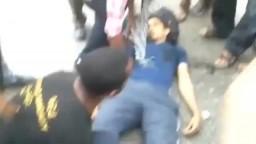 لحظة قتل الشهيد بلال من مظاهرة مدينة نصر