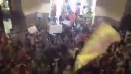 ثورة جامعة عين شمس بعد مقتل الطالب بلال