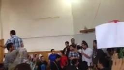 الطلاب يغلقون  كلية هندسة بعد استشهاد بلال