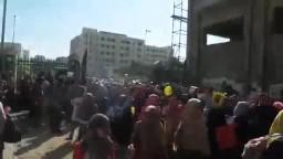 لحظه خروج مظاهرة طلاب ضد الانقلاب