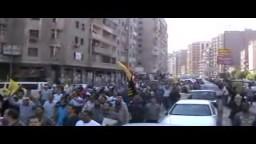 مسيرة الهرم قبل الاعتداء عليها 25 / 10