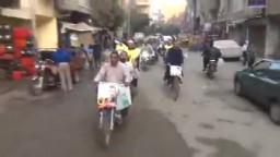 مسيرة بالدراجات النارية ضد الانقلاب بشبرا