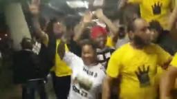 مسيرة للمصريين في ستاد جنوب افريقيا
