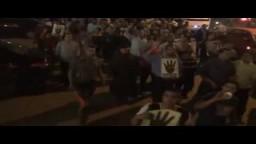 مسيرة شبرا الخيمة تهنيء النادي الاهلي بفوزه
