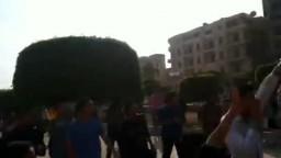 ثوار المنصورة لحظة دخولهم لميدان الشهداء