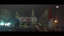 شاهد الهتافات أمام منزل اللاعب عبد الظاهر
