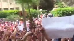 جانب من إضراب بعض كليات جامعة الزقازيق