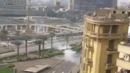 جانب من اشتباكات التحرير فى ذكرى محمد محمود