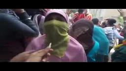 شاهداعتداء الأمن على طالبات ضد الانقلاب 19/ 11
