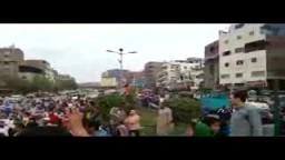 التقاء أعداد رهيبة مسيرة شبرا مع المطرية