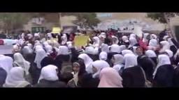 طالبات مدرسة عائشة عبدالرحمن ضد الانقلاب