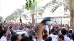 حشود طلاب المنصورة ضد الانقلابيين 8 / 12 / 2013