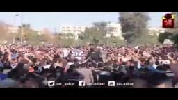 طلاب الأزهر ردا علي مقتل الطالب عبد اللطيف