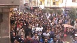 حشود مسيرة المطرية و شبرا _ 17 / 1 / 2014