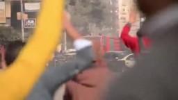 لحظة إقتحام الداخلية حرم جامعة المنصورة
