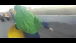 اعتداء قوات الأمن على سلسلة بشرية -أبوكبير