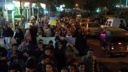 مسيرة ليلية بحدائق حلوان مناهضة للانقلاب