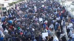 حشود بجنازة الشهيد عبد الرحمن مصدق 1_3_2014