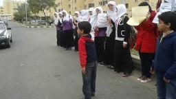 طالبات ضد الانقلاب بالشيخ زايد
