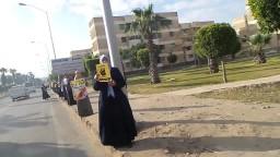 سلسلة بشرية ببرج العرب ضد الانقلاب 15 / 3 / 2014