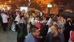 تظاهرة بمنطقة الدخيلة وانقطاع الكهرباء