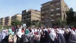 مسيرة طلاب المدارس من المجمع الازهري