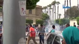 داخلية الانقلاب تمطر جامعة القاهرة بالغاز
