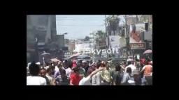 اعتداء الامن على مسيرة بالفيوم وسقوط شهيدان