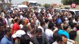 جنازة شهيد الصف بيد قوات أمن الانقلاب