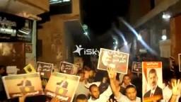 جانب من مسيرة اهالى شبرامنت ضد الانقلاب